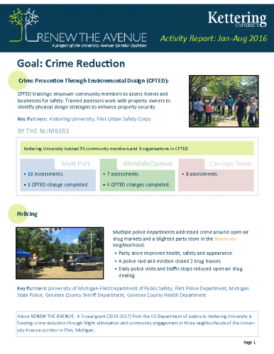 Crime Reduction Report (Jan-Aug, 2016)