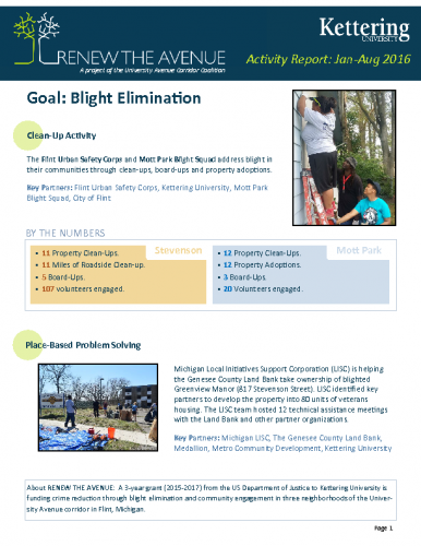 Blight Elimination Report (Jan-Aug, 2016)