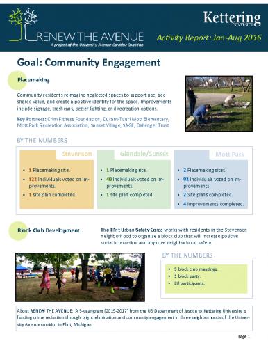 Community Engagement Report (Jan-Aug, 2016)